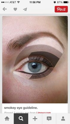 Eyeshadow placement