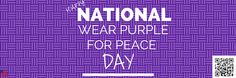 So are you today? , today is also , and Everyday Holidays, Wearing Purple, E Day, Peace, Happy, How To Wear, Tax Day Deals, Ser Feliz, Sobriety