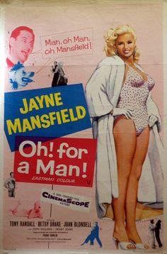 Too hot to handle Jayne Mansfield movie poster print 2