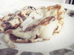 UK Nutella and pear pancakes
