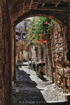 The medieval city of Rhodos, Greece Places Around The World, Oh The Places You'll Go, Places To Travel, Places To Visit, Around The Worlds, Mykonos, Santorini, Wonderful Places, Beautiful Places