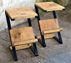 Pallets Wood Side Tables