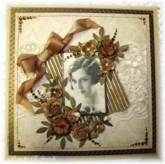 Vintage card, created using a variety of mediums from the Creative Inspirations Paint range...to add beautiful shimmer.