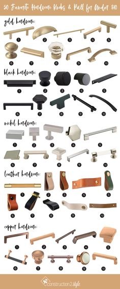 Hardware, something we're always on the hunt for regardless of the remodel we're doing because every space in your home usually requires it. Farmhouse Style Decorating, Farmhouse Chic, Farmhouse Design, Small Kitchen Redo, Kitchen Ideas, Kitchen Design, Wrought Iron Chairs, Indian Doors, Tree Carving