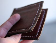 Handmade Leather Wallet by TrestleLeather on Etsy, $30.00