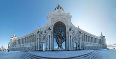 Enormous Iron Tree Constructed in Archway of Russian Ministry of Agriculture http://themindcircle.com/ministry-agriculture-building-metal-tree-kazan-russia/?utm_campaign=crowdfire&utm_content=crowdfire&utm_medium=social&utm_source=pinterest