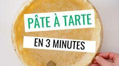 Recette de pâte à tarte inratable! En seulement 3 minutes, sans robot: la pâte à tarte facile et rapide, pour réaliser toutes vos tartes salées et sucrées.