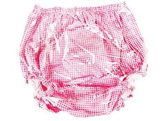 Haian Adult Incontinence Pull-on PVC & Cotton Pants (XX-Large, Pink Gingham Print Cotton) Review
