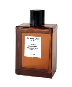 Cuiron pour Homme Helmut Lang cologne - a fragrance for men 2002 - Top notes are mandarin orange and bergamot; middle notes are cinnamon and pepper; base notes are labdanum, tobacco and suede.