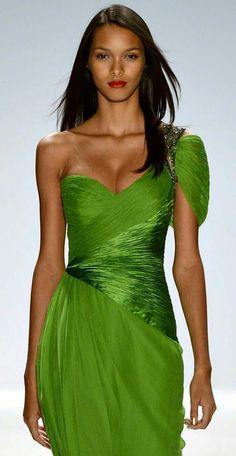 Green Palette, Strapless Dress Formal, Formal Dresses, Spring Green, Go Green, Shades Of Green, Green Dress, Evening Gowns, Runway