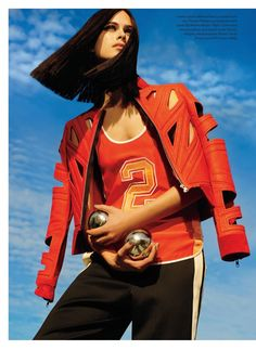 visual optimism; fashion editorials, shows, campaigns & more!: full speed: pamela bernier by leda & st.jacques for elle canada april 2014