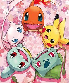 """Official artwork of Osaka-Kansai Expo 2025 featuring Bulbasaur, Charmander, Squirtle, Pikachu and Mew "" Pikachu Art, Pokemon Eeveelutions, Cute Pikachu, Pokemon Fan Art, Bulbasaur, Cool Pokemon Wallpapers, Cute Pokemon Wallpaper, Cartoon Wallpaper, Animes Wallpapers"