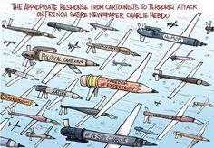 Les dessinateurs du monde entier dédient leurs caricatures à #CharlieHebdo - 10 january 2015