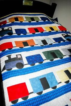 Way too cute Train Quilt!