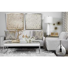 Z Gallerie Living Room small spaces z gallerie home decor Find This Pin And More On For The Home Paper Glow Silver From Z Gallerie