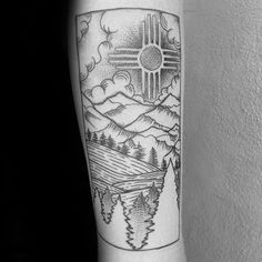 New mexico travel tattoo images 50 zia tattoo designs for men new mexico ink ideas jpg