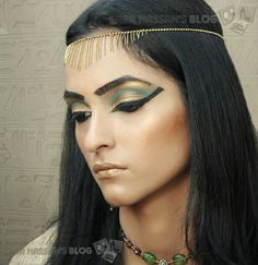 Egyptian makeup for mummy costume