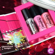 """our cute and practical mini lipgloss set """"05 golden gate gloss""""  #essence #cosmetics #lipsgloss #lips #miniset #beauty #glamour #glamorous #pink #party #travelset"""