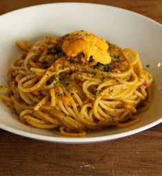Spaghetti sea urchin, chef: Ori Menashe from Salted: Learn how to cook from master chefs.