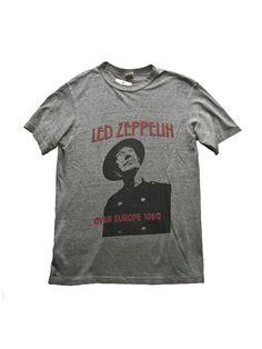Led Zeppelin Europe Tour Vintage T-Shirt 1980///SOLD///