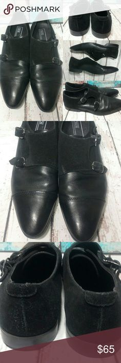 ASOS Monk Black leather & suede with buckle Top Rated Seller Fast Shipment ASOS Shoes Oxfords & Derbys
