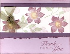 Best Blossoms Thank You by hdevino - Cards and Paper Crafts at Splitcoaststampers