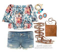 Off The Shoulder Top - Summer Outfit by alyssanicolesmith on Polyvore