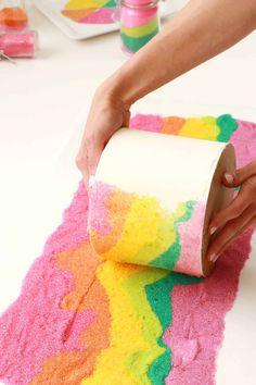 Sand Art Cake - A Beautiful Mess