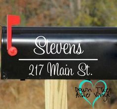 Personalized Mailbox Decal Set of Two by DownTheAisleVinyl on Etsy, $7.00