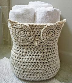 crocheted owl basket | Hungarian | use your favorite page translation program