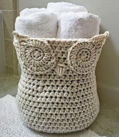 crocheted owl basket   Hungarian   use your favorite page translation program