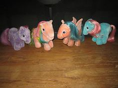 5 Vintage 80'S MY LITTLE PONY Hasbro Softies PLUSH Stuffed Horses | eBay. I had the one on the far left... I think it's lickety split. I lost her and am still heartbroken