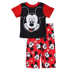 Mickey Mouse Baby Toddler Red Poly Pajamas #Disney #MickeyMouseClubHouse #WaltDisney  #FunStartsHere #Everyday www.yankeetoybox.com Pjs Jammies Sleepwear