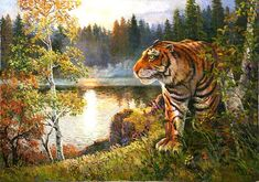 (North Korea) Tiger by Kim Cheol-heon (1937-  )
