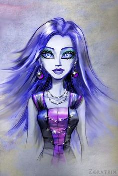 Spectra Portrait - monster-high Fan Art