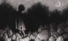 """""""Betwixt the Quarry Stones"""" Sam Wolfe Connelly graphite 2015 http://ift.tt/2ddWfax"""