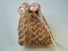Sacchettino bomboniera a forcella: wedding crochet