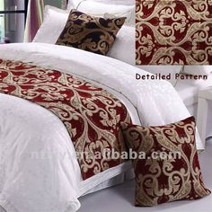 king size bed scarf | High Grade Noble and Graceful 5 star Hotel Bed Runner