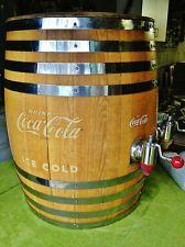 Coca Cola Oak Barrel Soda Fountain w/Multi-Plex Dispensers(2)  Pump!