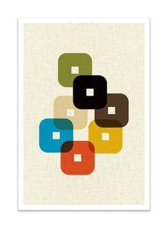 STAND - Giclee Print - Mid Century Modern Danish Modern Minimalist Modernist Eames Abstract - STAND Giclee Print Mid Century Modern Danish Modern by Thedor - Print, Geometric Art, Century, Design, Turtle Art, Abstract, Mcm Art, Mid Century Art, Retro Design