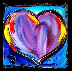 """HEARTS"" LARGE Modernist Abstract Contemporary Art Painting - By Canadian-Russian(born) well known artist 'Mark Kazav' - Oil Paint on Canvas using Palette Knife - it will be Signed, Stretched, with Painted sides & arrive Ready To Hang. Inc. a certificate of Authenticity - 'kazavgallery' on Etsy ★❤★"