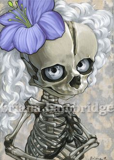 Child skeleton in white Signed archival print by BrianaBainbridge, $20.00