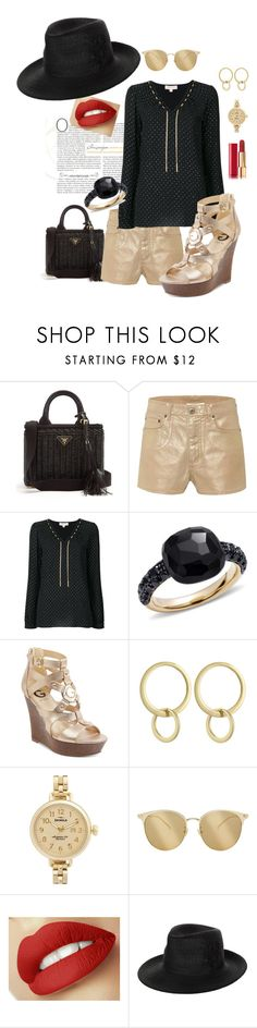 """""""Miami"""" by mshunt ❤ liked on Polyvore featuring Prada, Chloé, MICHAEL Michael Kors, Pomellato, G by Guess, Laundry by Shelli Segal, Shinola, Yves Saint Laurent, Philip Treacy and Chanel"""