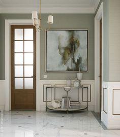 Американская современная классика в подмосковном доме | Пуфик - блог о дизайне интерьера
