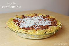 The Sullengers: Baked Spaghetti Pie