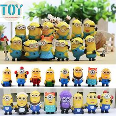 Find More Action & Toy Figures Information about New 20pcs Minions Figure Toys Despicable Me Anime Baby Dolls Kids Gift Brinquedos Cake Topper 3 6cm Kawaii Collection Juguetes,High Quality dolls house doors and windows,China toys god Suppliers, Cheap toy story plush doll from Toys in the Kingdom on Aliexpress.com