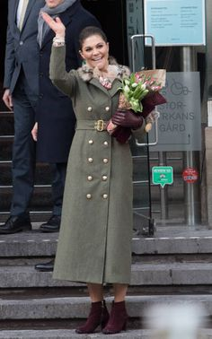 Crown Princess Victoria of Sweden after a walkabout through the cobbled streets of Stockholm from the Royal Palace to the Nobel Museum during day one...