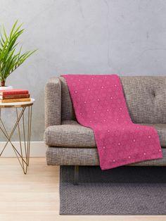 """Magenta #1"" Throw Blanket by Kettukas | Redbubble Dream Blanket, Star Blanket, Purple Day, Purple Glitter, Jazz Festival, Bordeaux, Modern Blankets, Throw Blankets, Sell Your Art"