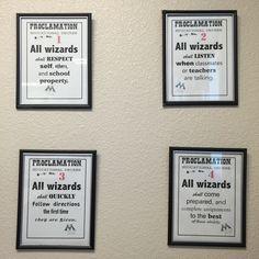 Cute twist on classroom rules!