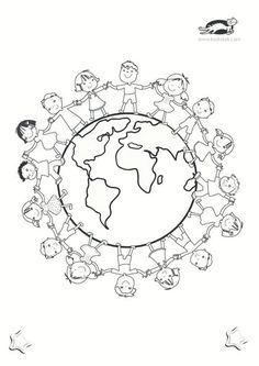 printables for kids Earth Day Coloring Pages, Colouring Pages, Adult Coloring Pages, Coloring Books, Earth Day Crafts, World Crafts, Idees Cate, Harmony Day, Art For Kids